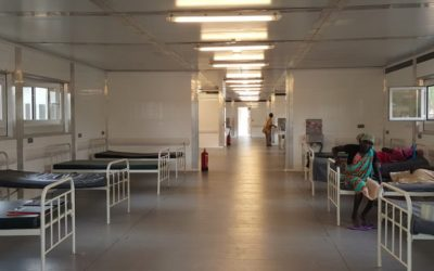 Modular hospital built with Gaptek structures in South Sudan