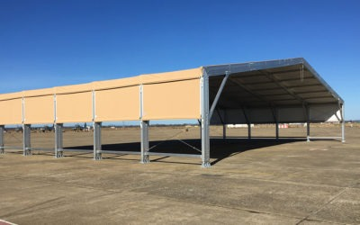 Aircraft shelter for aircraft launching to the Spanish Air Force